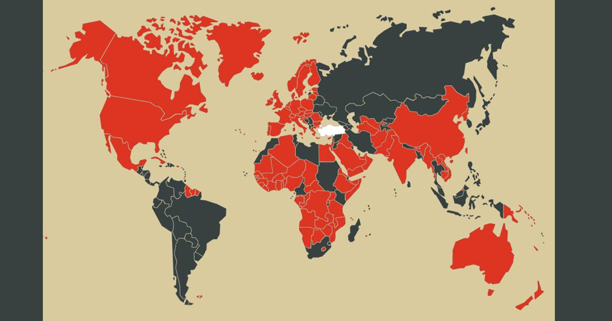 Vize istemeyen ulkeler harita